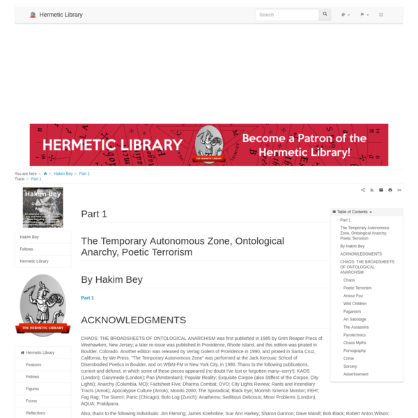 Part 1 - Hakim Bey - Hermetic Library