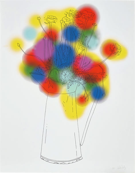 Nicolas Party, Flowers and a Few Colours, 2013, Screenprint