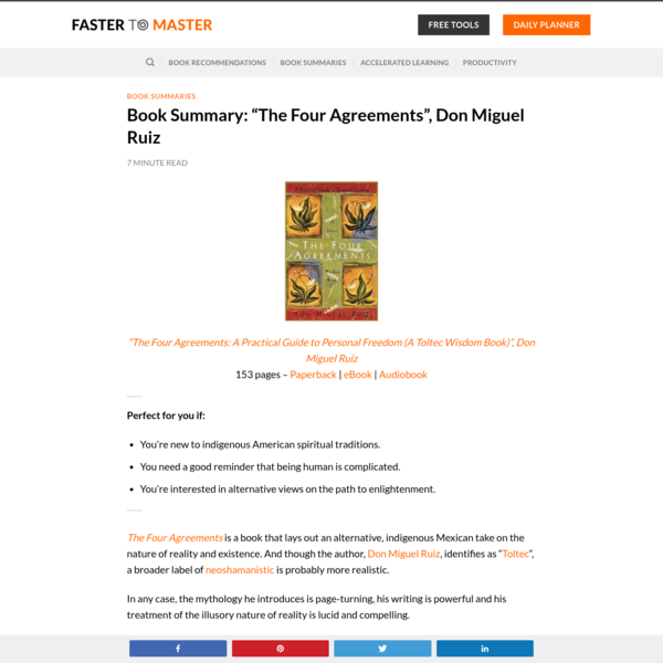 "Book Summary: ""The Four Agreements"", Don Miguel Ruiz"