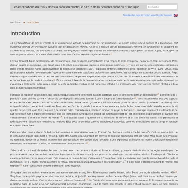 (FR) Introduction