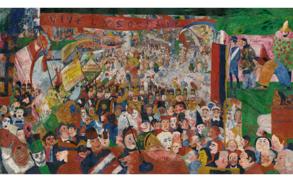 Christ's Entry into Brussels in 1889 by James Ensor (1888)