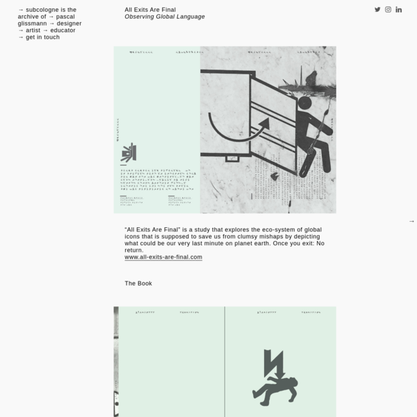 Pascal Glissman Exit Design Book