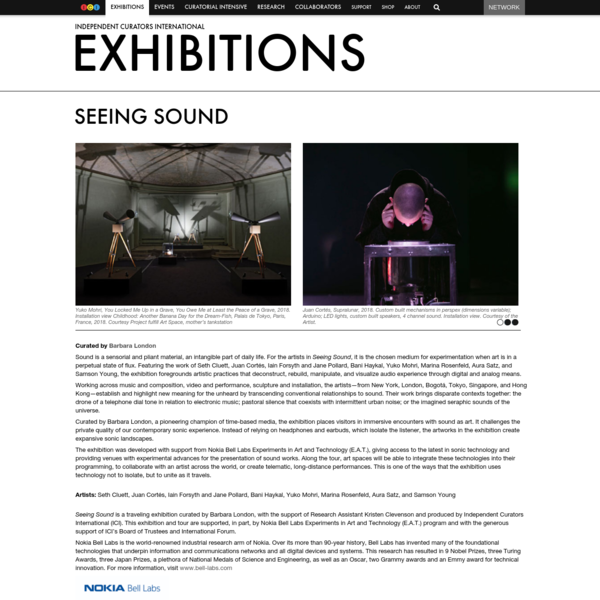 Seeing Sound - Exhibitions - Independent Curators International