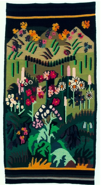 Ernst Ludwig Kirchner and Lise Gujer, Blumenteppich, 1938, Tapestry