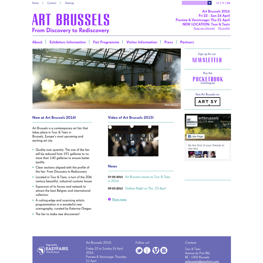 Art Brussels is a contemporary art fair that takes place in Tour & Taxis in Brussels, Europe's most upcoming and exciting art city. Quality over quantity.