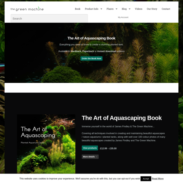 The Green Machine - Aquascaping Tutorials, Videos, Articles & Products