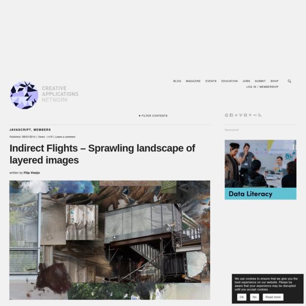 Indirect Flights - Sprawling landscape of layered images