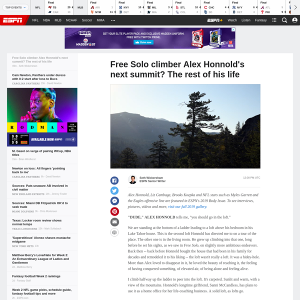 Free Solo climber Alex Honnold's next summit? The rest of his life
