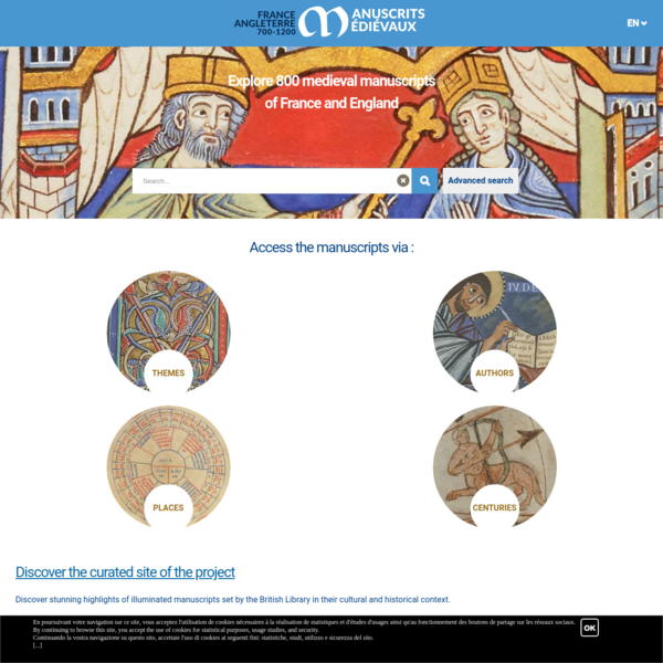 France-England: medieval manuscripts between 700 and 1200