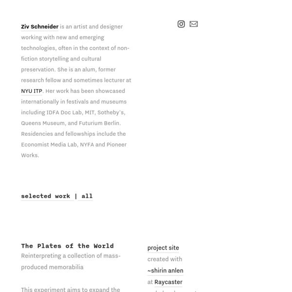Plates of the World (2018) - ziv schneider