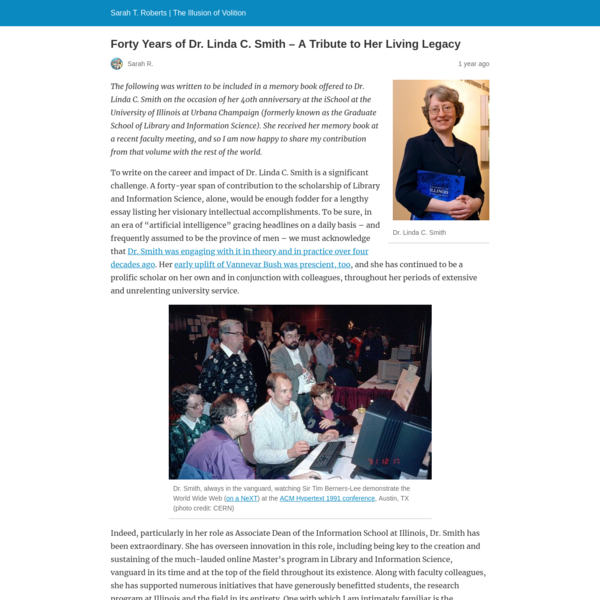 Forty Years of Dr. Linda C. Smith - A Tribute to Her Living Legacy