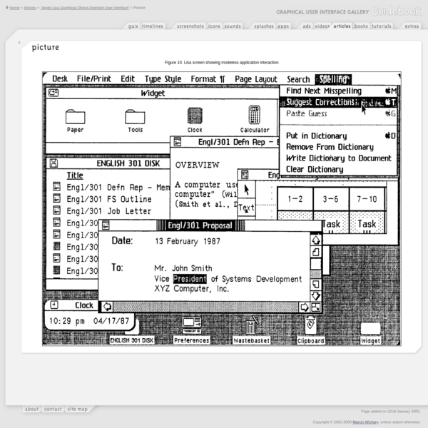 """GUIdebook > Articles > """"Apple Lisa Graphical Object-Oriented User Interface"""" > Picture"""