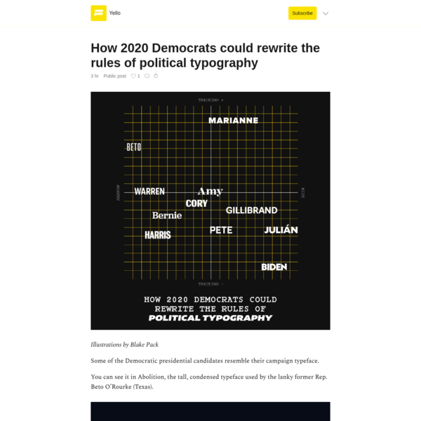 How 2020 Democrats could rewrite the rules of political typography