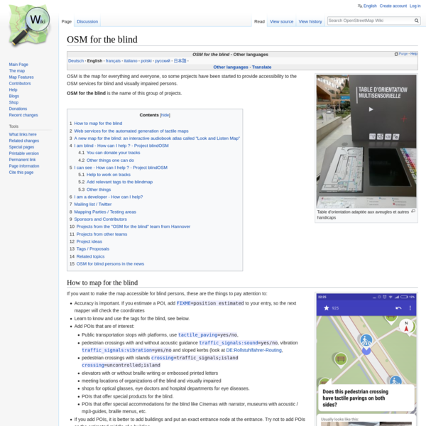 OSM for the blind