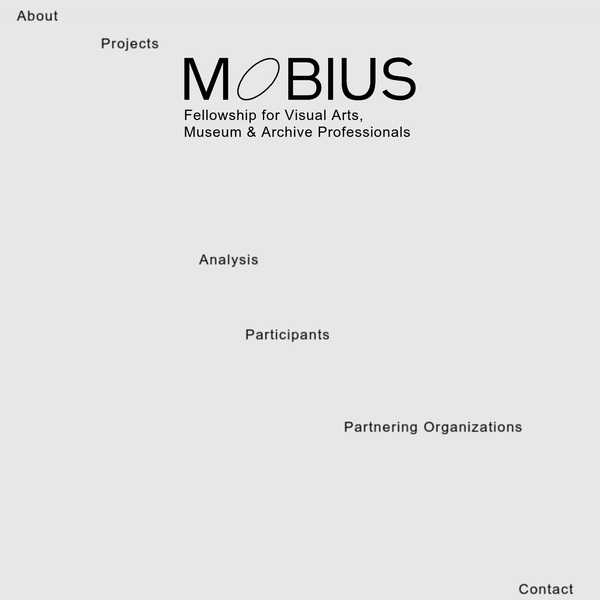 The MOBIUS program brings together professionals and organizations in order to share knowledge, enable peer-to-peer learning and enrich the participants' expertise. The basis for each tailored fellowship is a collaboration that enables analysis and further development of structures within - and outside - visual arts organizations, museums and archives.