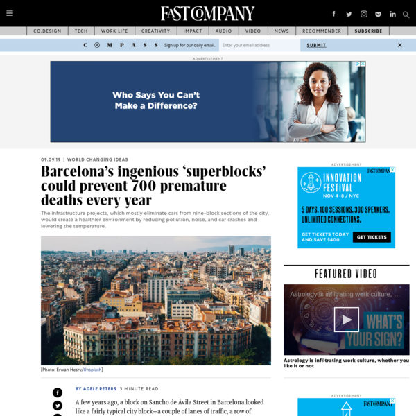 """Barcelona's """"superblocks"""" could stop 700 premature deaths annually"""