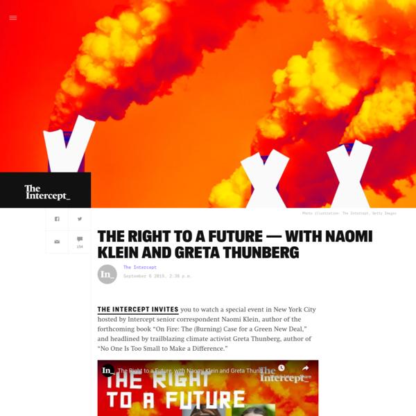 The Right to a Future - With Naomi Klein and Greta Thunberg