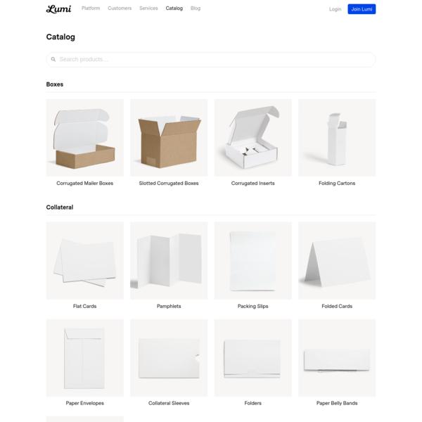 Product Catalog - Lumi