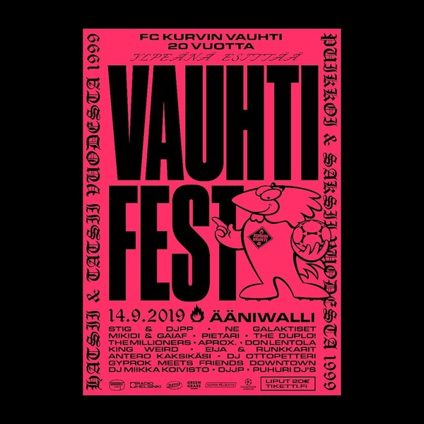 Vauhtifest This Saturday In Ääniwalli!!!!! Collaboration with the spectacular @anttiuotila #graphicdesign #poster #vauhtifes...