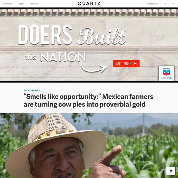 """The air in San Sebastián Tepalcatepec, a farming community in the south-central Mexican state of Puebla, is hot and dry and, frankly, reeks. Alexander Eaton rolls down the window of his pickup truck and inhales. """"This smells like opportunity,"""" he tells Quartz with a grin."""