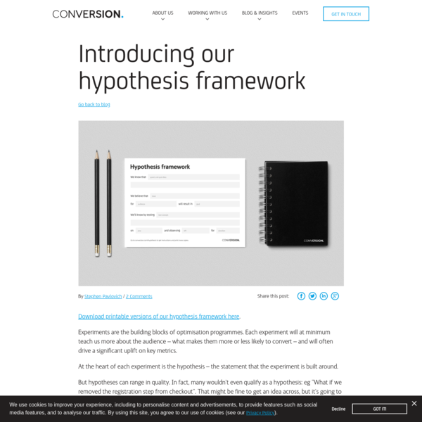 Introducing our hypothesis framework - Conversion Blog