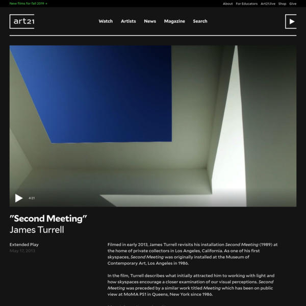 """""""Second Meeting""""James Turrell"""