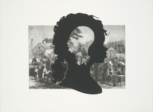 Kara Walker, Exodus of Confederates from Atlanta from Harper's Pictorial History of the Civil War (Annotated), 2005