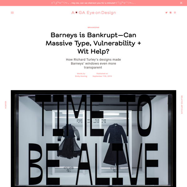 Barneys is Bankrupt-Can Massive Type, Vulnerability + Wit Help?