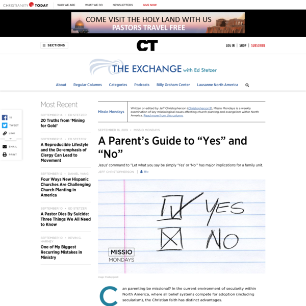 "A Parent's Guide to ""Yes"" and ""No"""