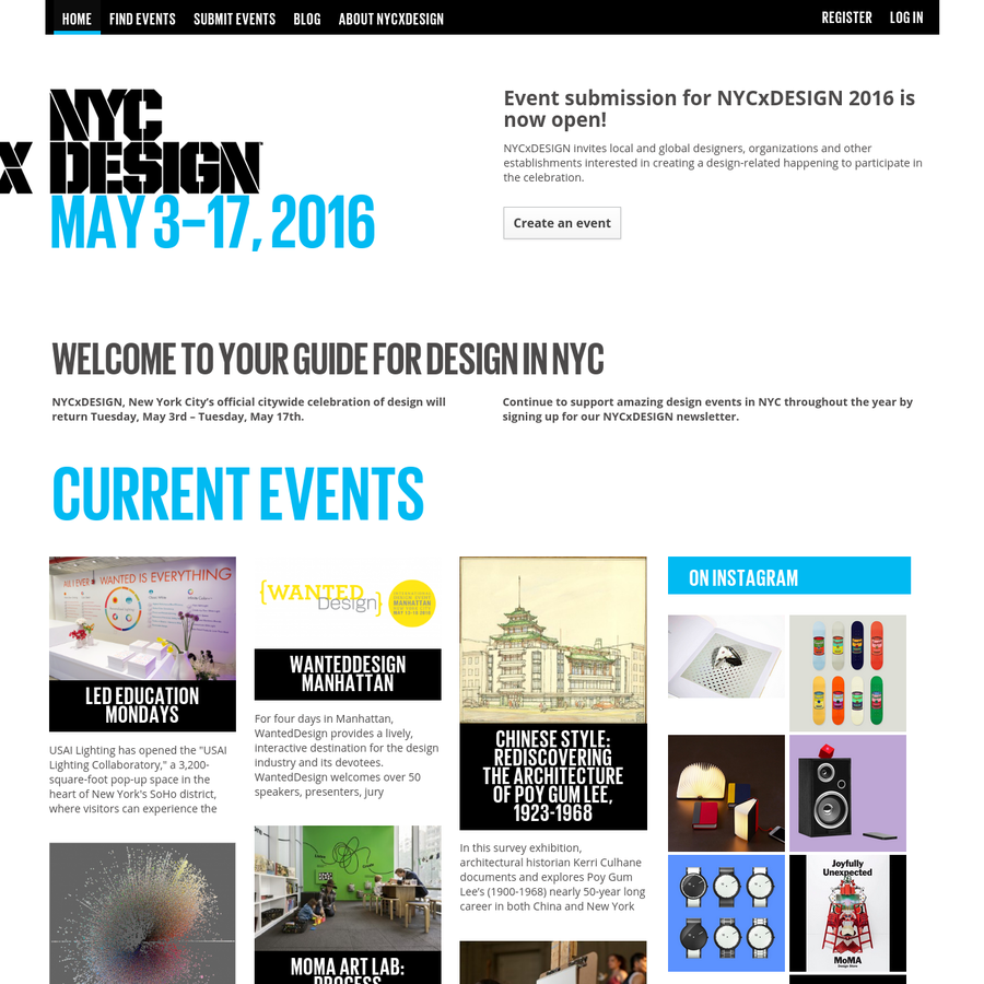NYCxDESIGN is New York City's official citywide celebration of design. Spanning all disciplines of design, NYCxDESIGN creates a collaborative platform for cultural and commercial opportunities, elevates established and emerging design practices and increases awareness of and appreciation for design by all audiences.