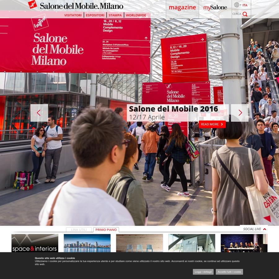Il Salone del Mobile.Milano è la più importante rassegna internazionale dedicata all'arredo, dove le migliori aziende del settore presentano i prodotti, i materiali e le tecnologie che dettano le tendenze del mondo dell'arredo-casa