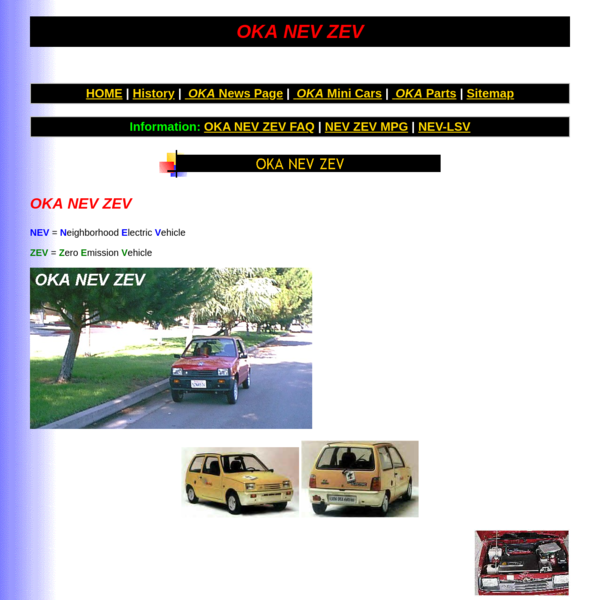 OKA Neighborhood Electric Vehicle NEV