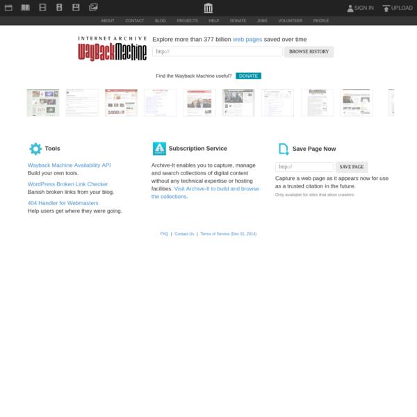 Internet Archive: Wayback Machine