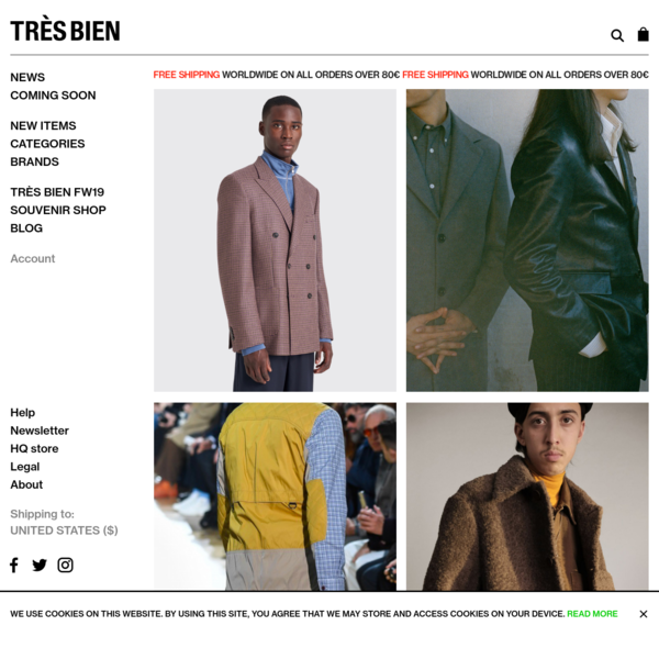 Très Bien - The official website and e-store