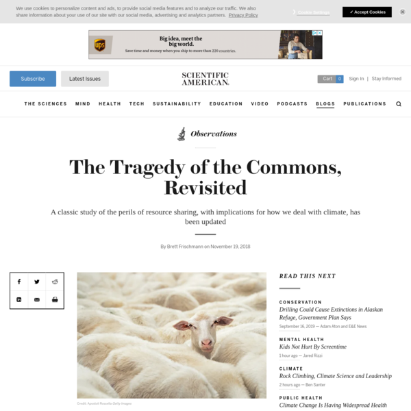The Tragedy of the Commons, Revisited