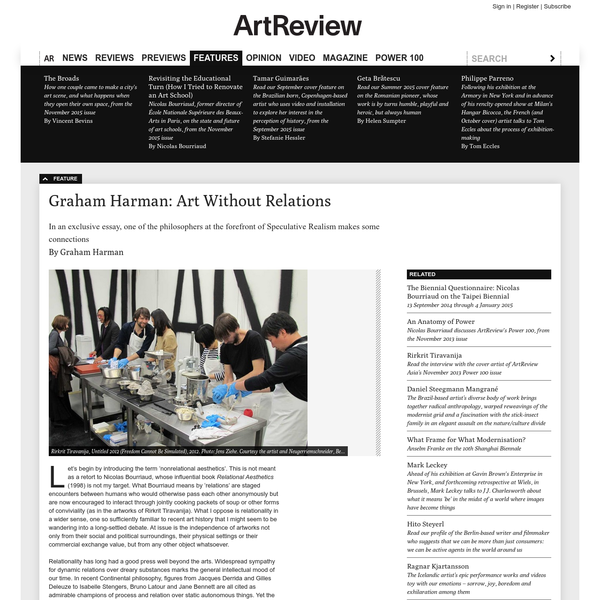Art Without Relations / Art Review