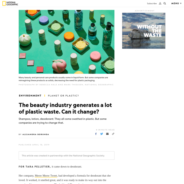 The beauty industry generates a lot of plastic waste. Can it change?