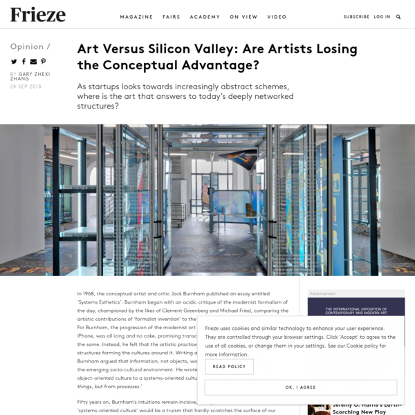 Art Versus Silicon Valley: Are Artists Losing the Conceptual Advantage?