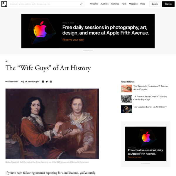 """These Artists Are the """"Wife Guys"""" of Art History"""