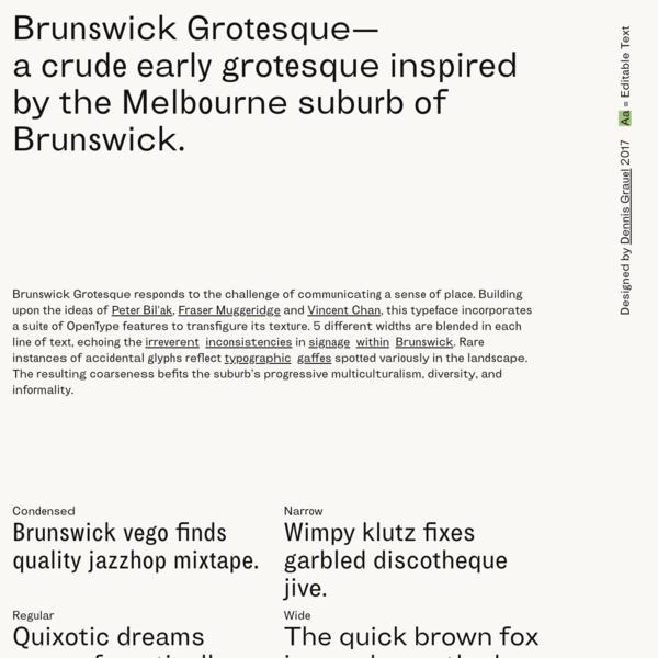 Brunswick Grotesque