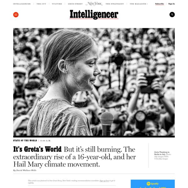It's Greta Thunberg's World