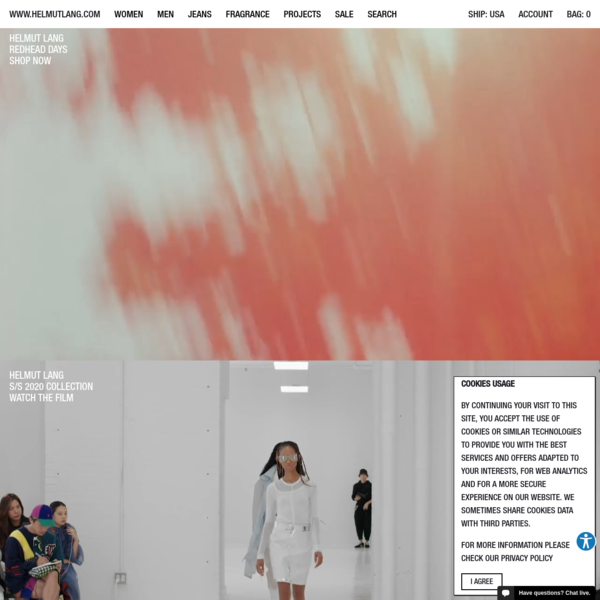 HELMUT LANG - Shop clothing, fragrance, shoes, and accessories for women and men