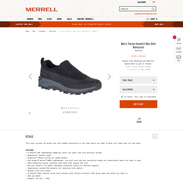 Thermo Snowdrift Moc Shell Waterproof