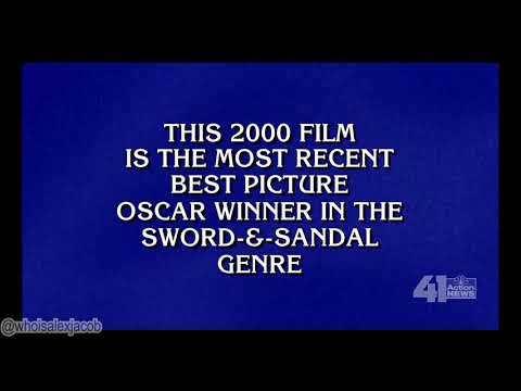 "Alex Trebek saying the word ""genre"" on Jeopardy!"