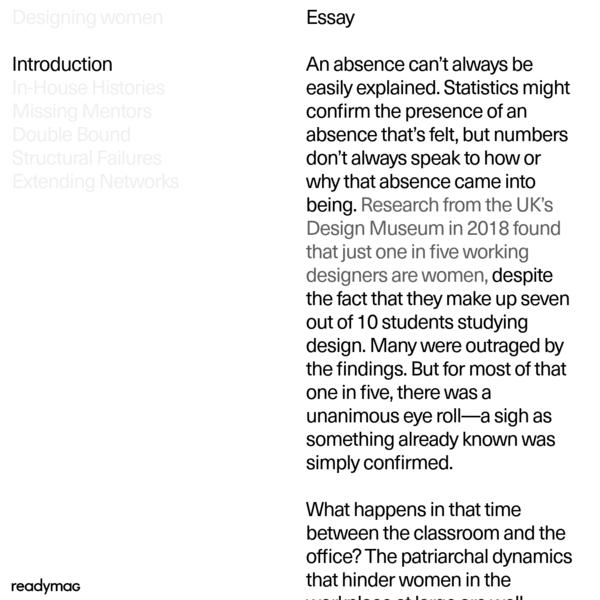Designing women: Essay