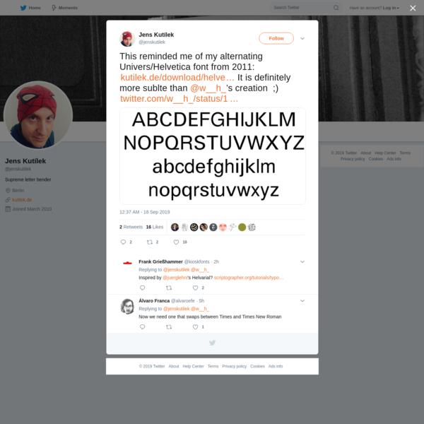 Jens Kutílek on Twitter