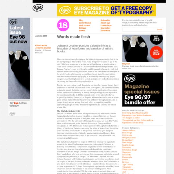 Eye Magazine   Feature   Words made flesh