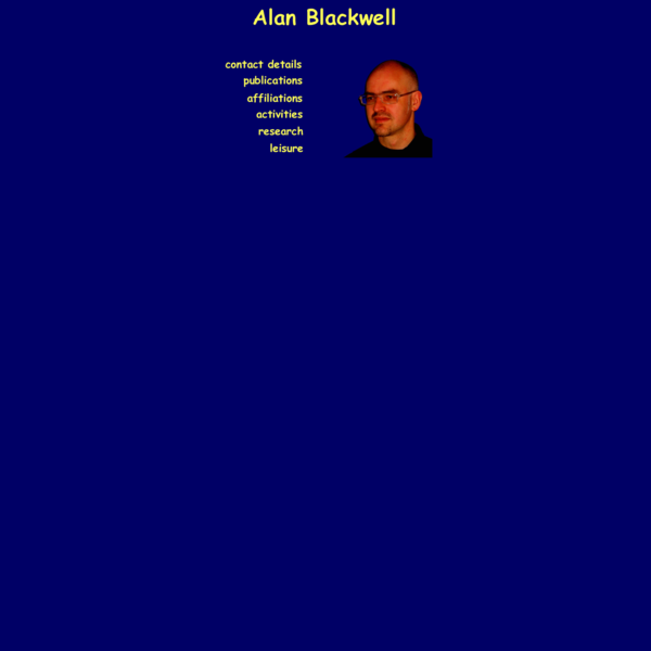 Alan Blackwell - Home Page