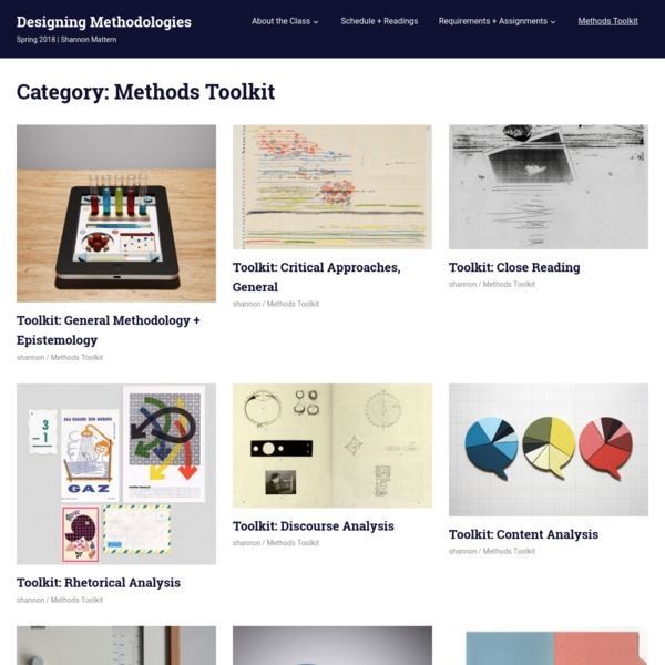 Methods Toolkit - Designing Methodologies