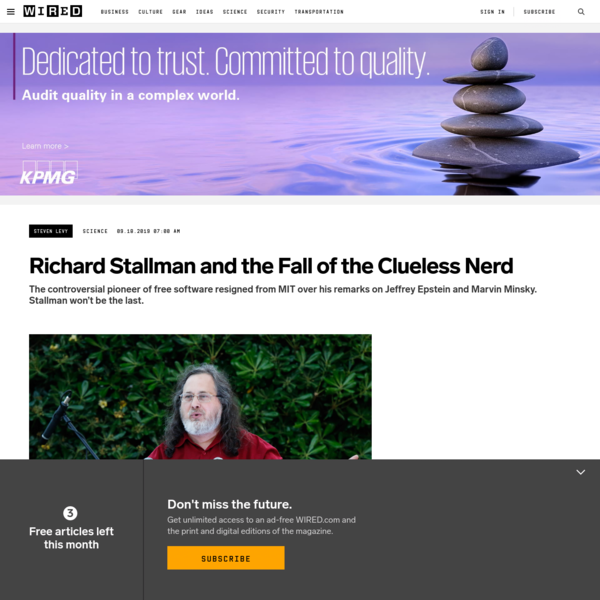 Richard Stallman and the Fall of the Clueless Nerd